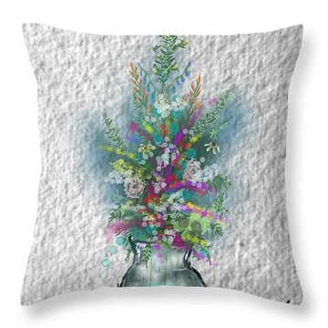 Flowers Study Two Throw Pillow by Darren Cannell