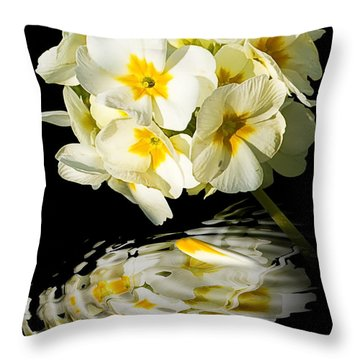 Flowers Throw Pillow by Svetlana Sewell
