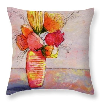 Flowers Throw Pillow by Terry Honstead