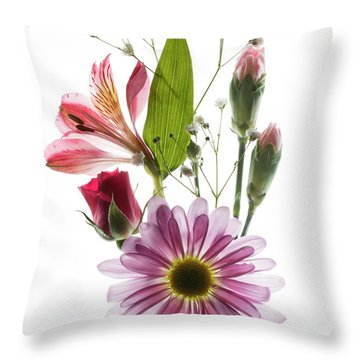 Throw Pillow featuring the photograph Flowers Transparent 1 by Tom Mc Nemar