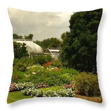 Flowers Under The Clouds Throw Pillow by James C Thomas
