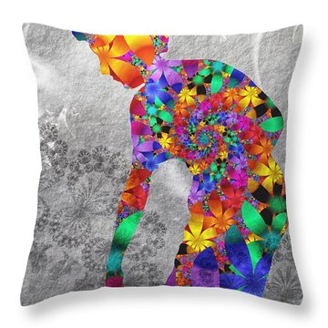Flowerwoman Throw Pillow