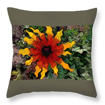 Flowerworks Throw Pillow