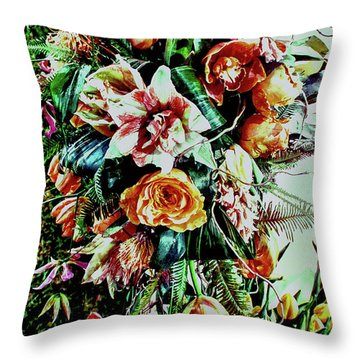 Flowing Bouquet Throw Pillow