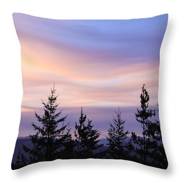 Flowing Clouds Throw Pillow