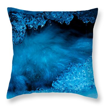 Flowing Diamonds Throw Pillow by Sean Sarsfield