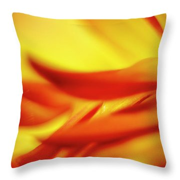 Flowing Floral Fire Throw Pillow