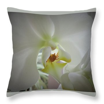 Flowing Flower Throw Pillow