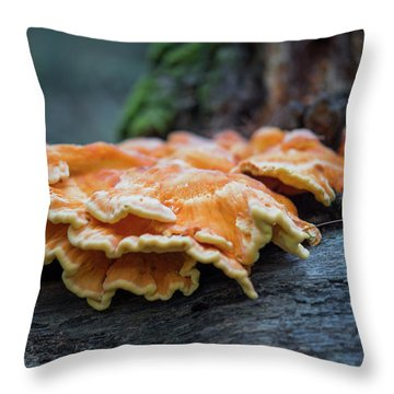 Flowing Fungus Throw Pillow