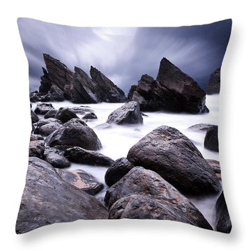 Flowing Throw Pillow by Jorge Maia
