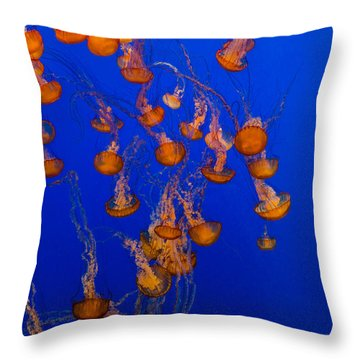 Flowing Pacific Sea Nettles 1 Throw Pillow