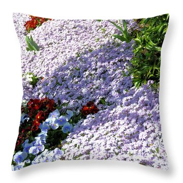 Flowing Phlox Throw Pillow by Jan Amiss Photography