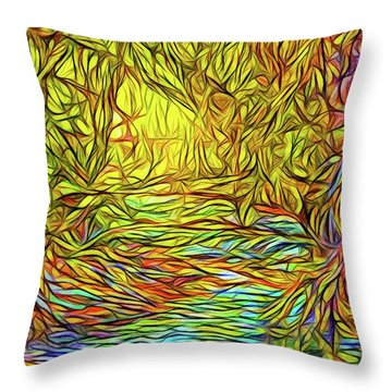 Flowing River Vision Throw Pillow