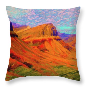 Flowing Rock Throw Pillow by Chuck Mountain
