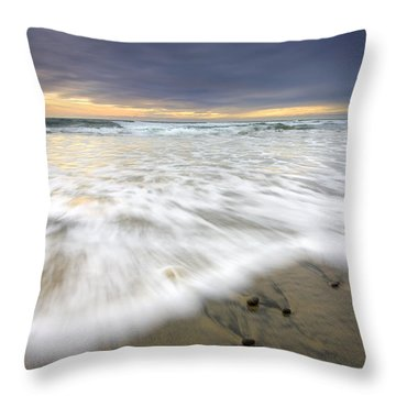 Flowing Stones Throw Pillow by Mike  Dawson