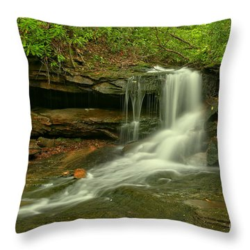 Flowing To The Side Throw Pillow