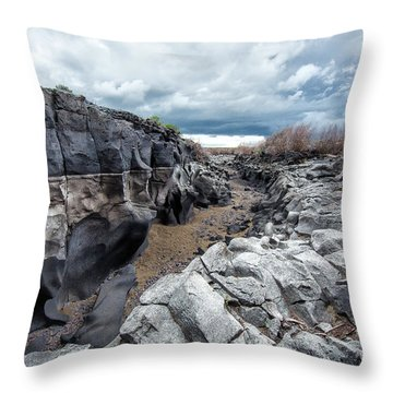 Flowing To The Storm Idaho Journey Landscape Art By Kaylyn Franks Throw Pillow