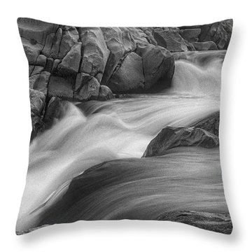 Flowing Waters At Kern River, California Throw Pillow
