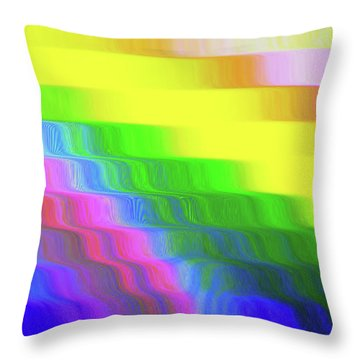 Flowing Whimsical #113 Throw Pillow by Barbara Tristan