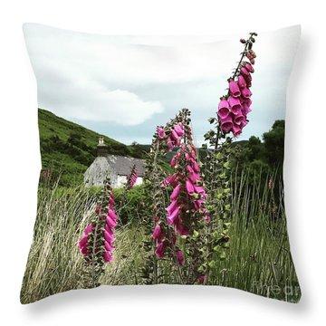 Floxglove In The Wild Throw Pillow