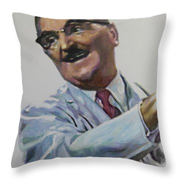 Floyd The Barber In Color Throw Pillow