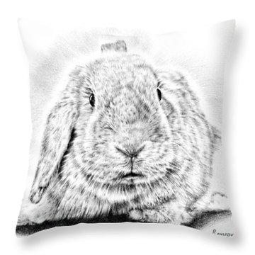 Fluffy Bunny Throw Pillow