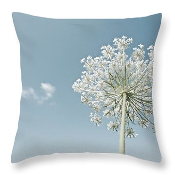 Fluffy Cloud Throw Pillow by Tim Good
