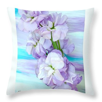 Fluffy Flowers Throw Pillow by Marsha Heiken