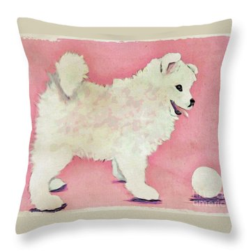 Fluffy Pup Throw Pillow