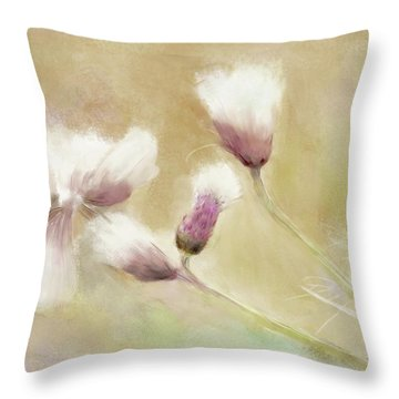 Fluffy Thistle Throw Pillow