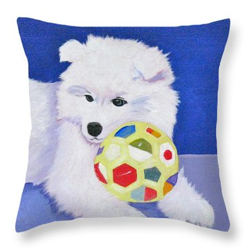 Fluffy's Portrait Throw Pillow