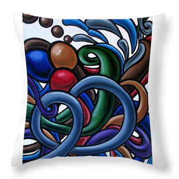 Fluid 2 - Abstract Painting Throw Pillow