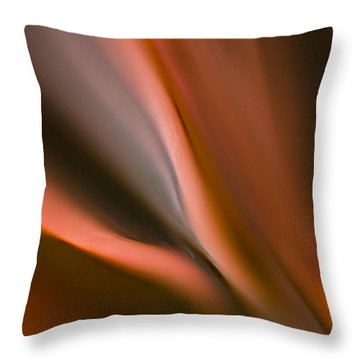 Fluid Blades Throw Pillow by Mike Reid