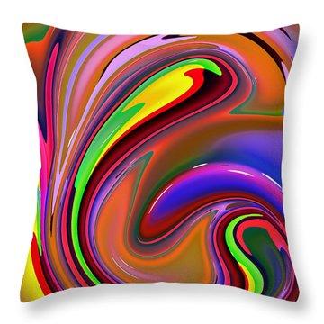 Fluid Colour Throw Pillow by Robert Burns