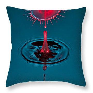 Fluid Parasol Throw Pillow by Susan Candelario
