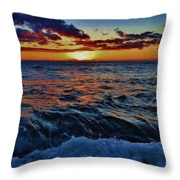 Fluid Sunset Throw Pillow