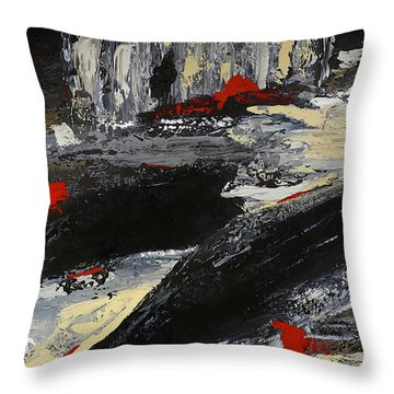 Flume 2 Throw Pillow by Dick Bourgault