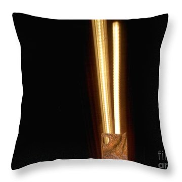 Fluorescent Lighting 'n Paperbag Throw Pillow
