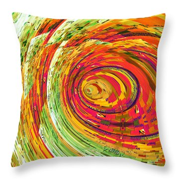 Fluorescent Wormhole Throw Pillow by Shawna Rowe