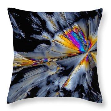 Fluoxetine Hydrochloride, Polarized Lm Throw Pillow