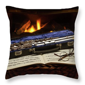 Flute Still Life Throw Pillow