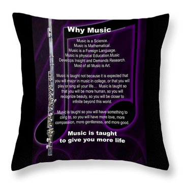 Flute Why Music Photographs Or Pictures For T-shirts 4824.02 Throw Pillow
