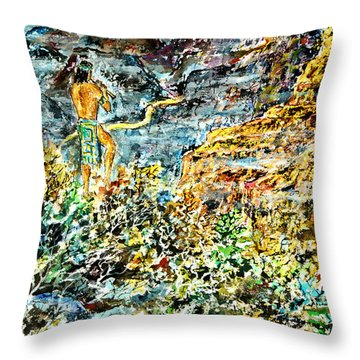 Flutes Breath Throw Pillow