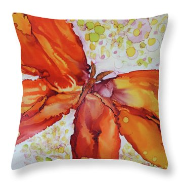 Throw Pillow featuring the painting Flutter by Joanne Smoley