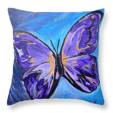 Flutterby Bring The Light Throw Pillow