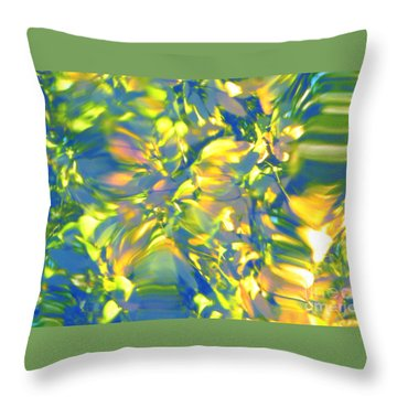 Fluttering Of Color Throw Pillow