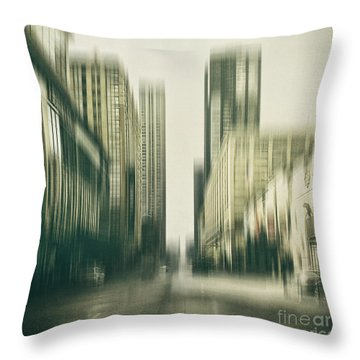 Flux Throw Pillow by Andrew Paranavitana