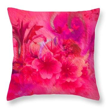 Flower Art Pinky Pink  Throw Pillow