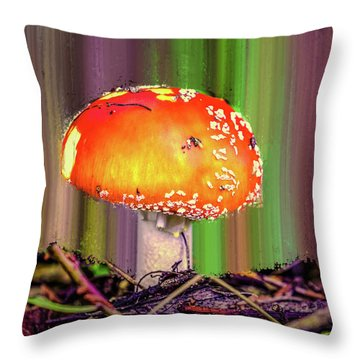 Fly Agaric #g7 Throw Pillow