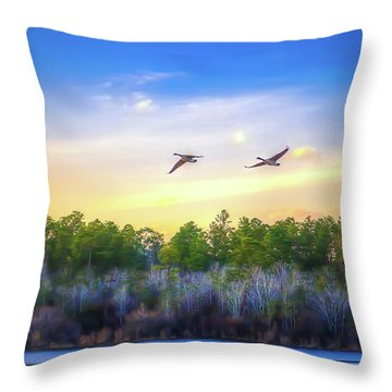 Throw Pillow featuring the photograph Fly Away by Maddalena McDonald